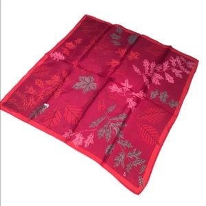 Vintage Red and Burgundy Vera Leaves Leaf Scarf